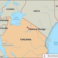 Olduvai Gorge Map