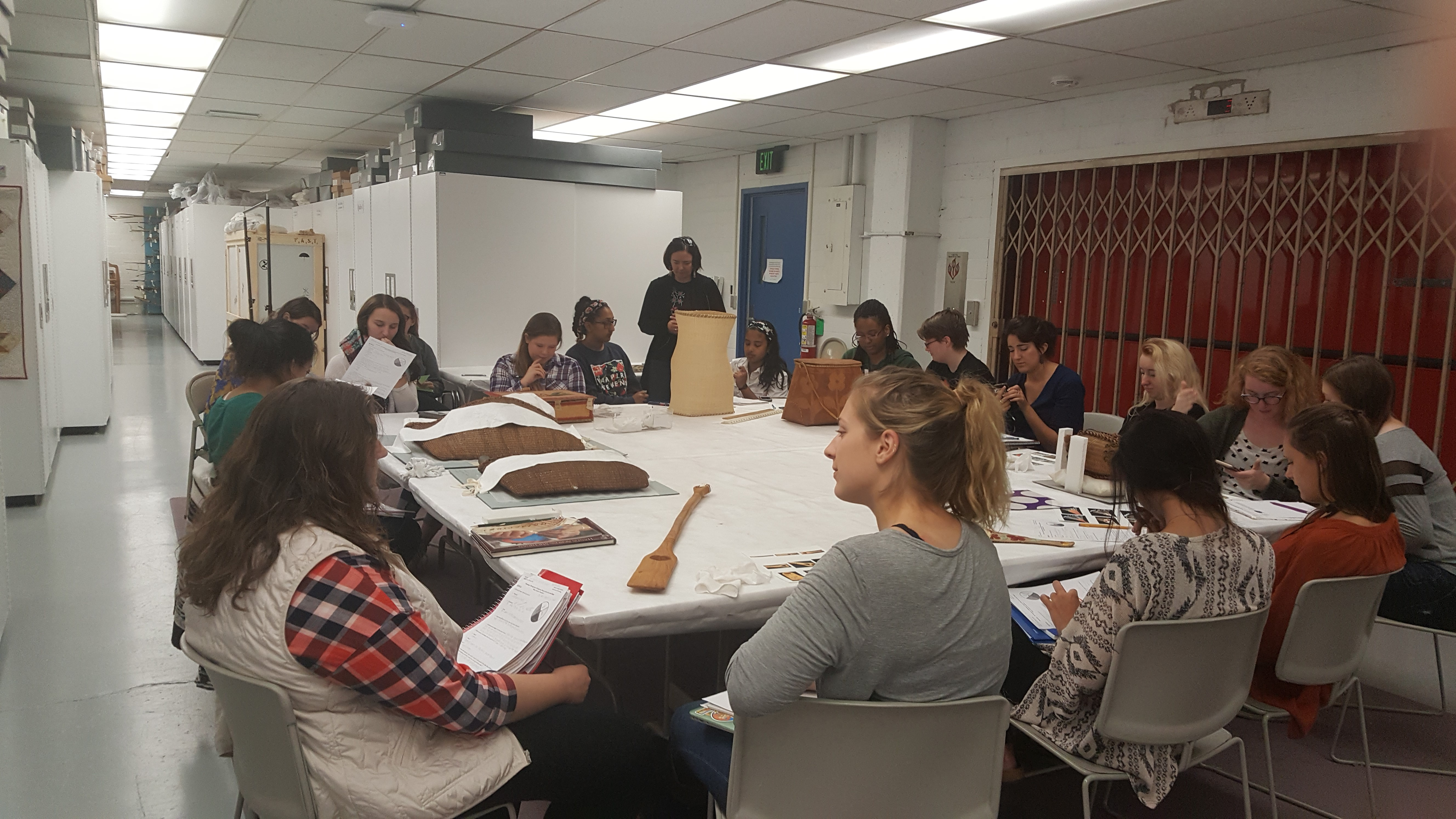 ANP 432 class at MSU Museum collections