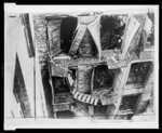 [Damaged fire escape at the Triangle Shirtwaist Company building after the 1911 fire, New York City] / photo by Brown Brothers.