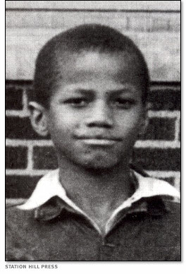 Malcolm's school picture, taken around 1935.
