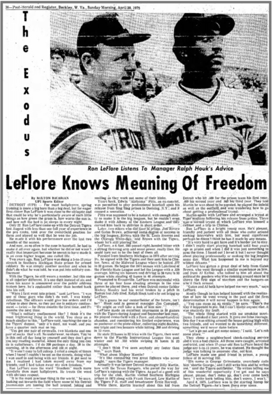LeFlore Knows Meaning of Freedom