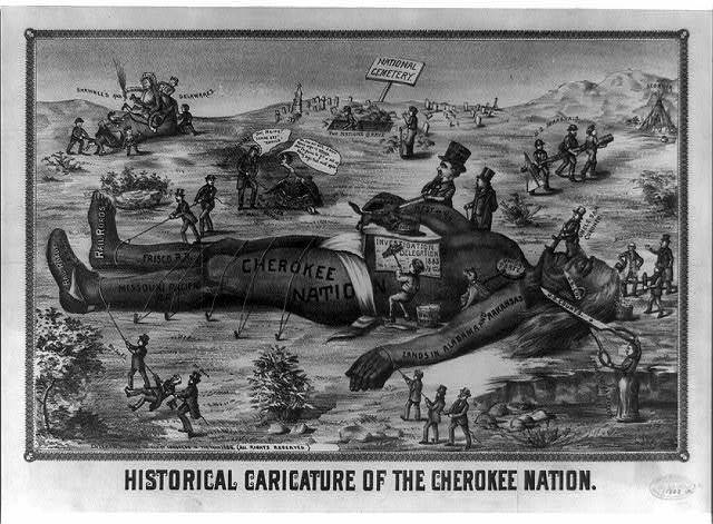 Historical caricature of the Cherokee nation