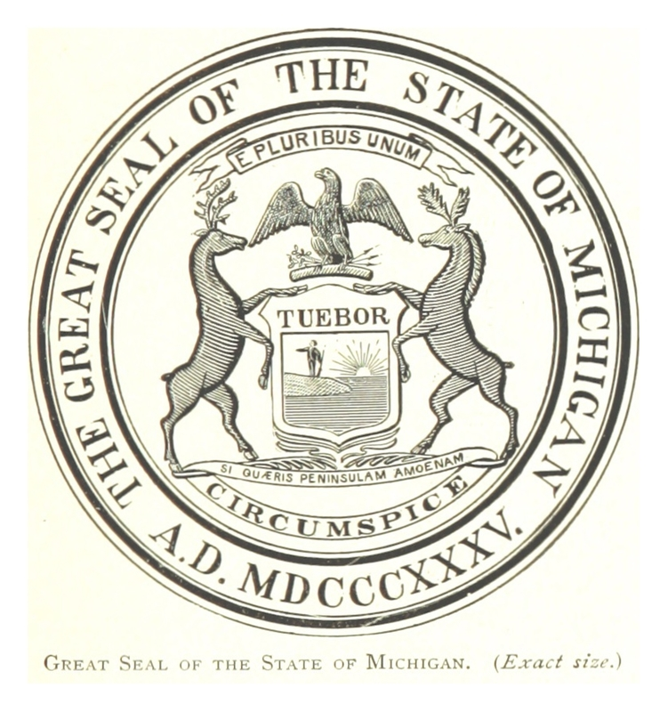 The Great Seal of the State of Michigan.