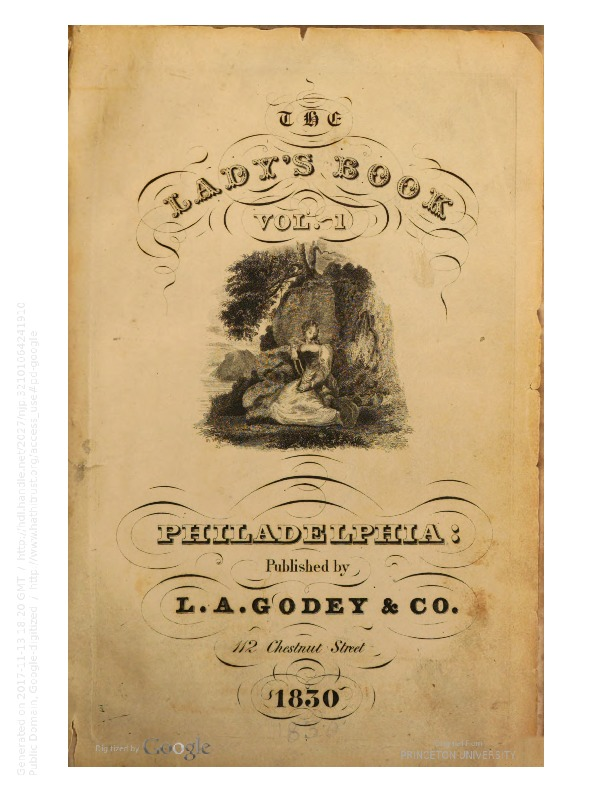 Godey's Lady's Book 1830