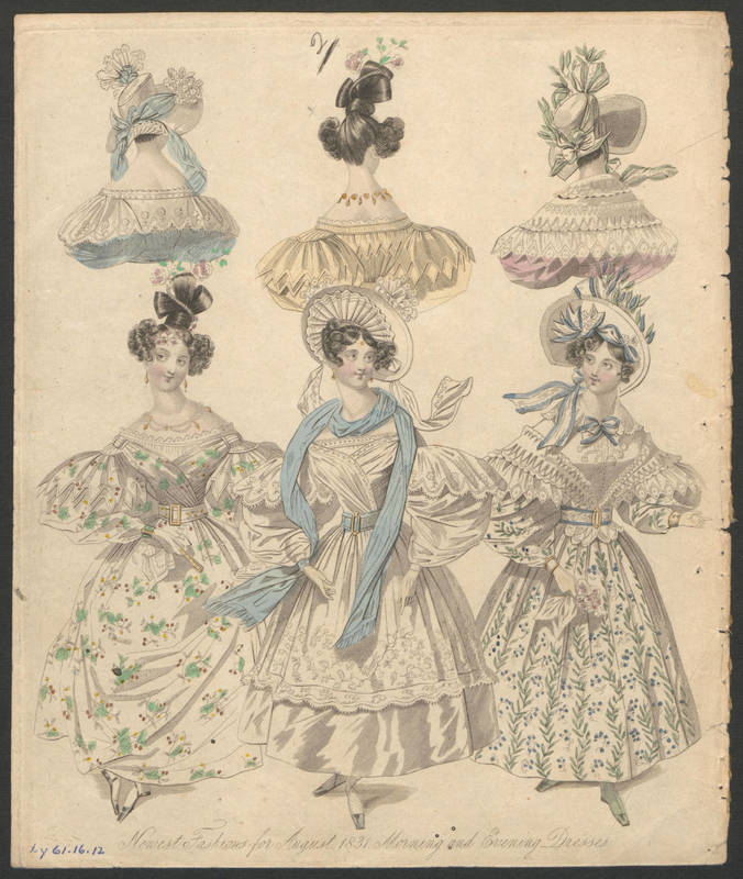 Southern Belle Fashion 1831