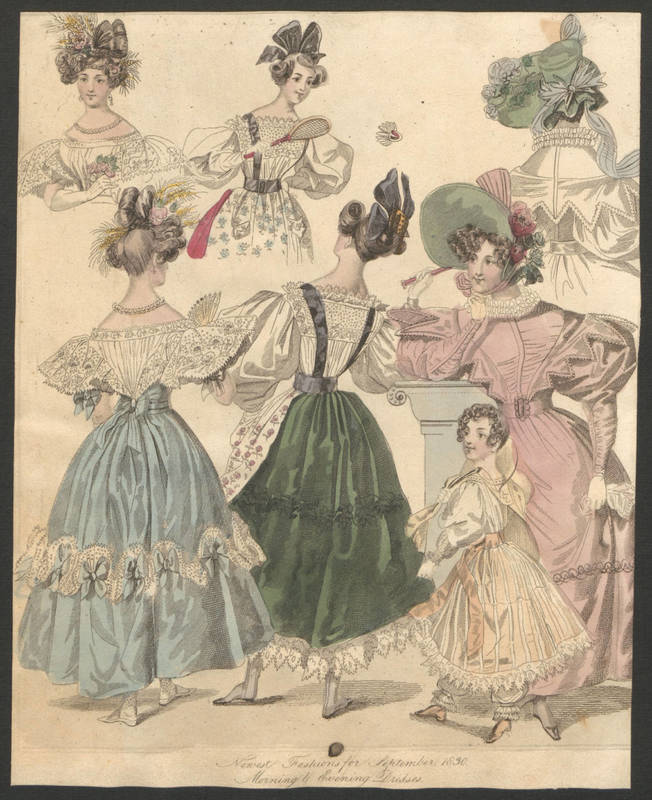 Southern Belle Fashion 1830 - 1831