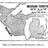 Michigan Territory by Law, 1818.