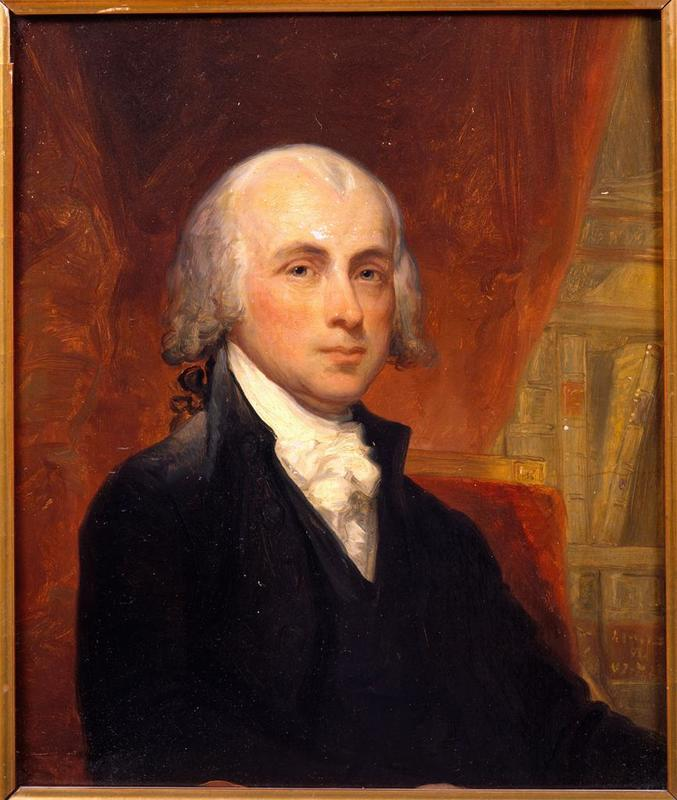 James Madison, 4th President of the United States of America in 1809, reelected in 1813