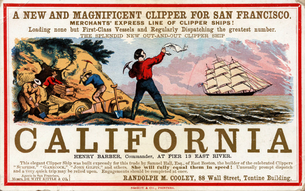 California Gold Rush Handbill
