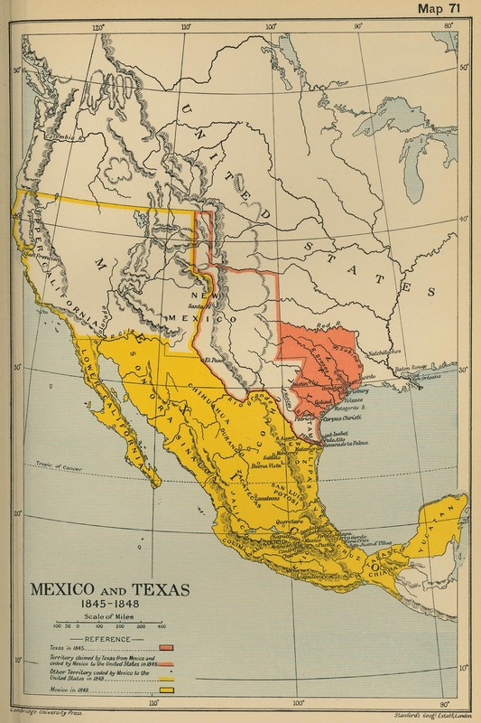 Texas Introduction Texas History From Mexican Territory To A Us - Us-map-1845