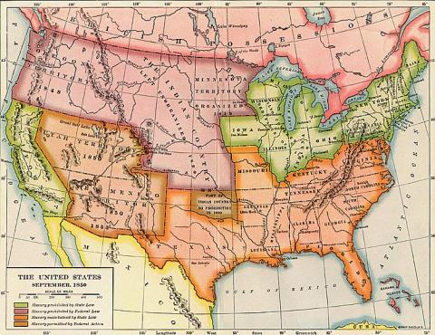 United States Map, 1850 · Young American Republic