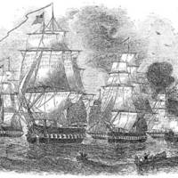 Drawing of Perry's Squadron during the Second Visit.jpg